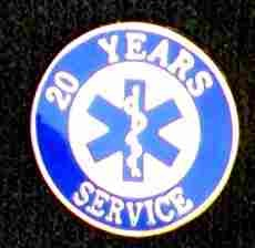 20 Year EMS Service Pin