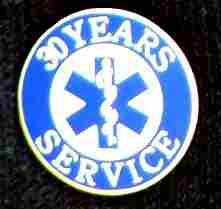 30 Year EMS Service Pin