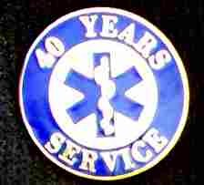 40 Year EMS Service Pin