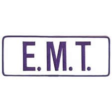 E.M.T. Back Patch Royal Blue/White