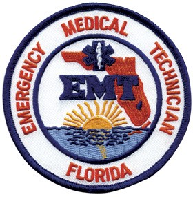 Florida EMT Patch Blue Edge