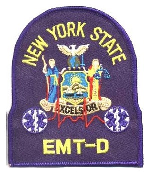 New York EMT-D  Patch