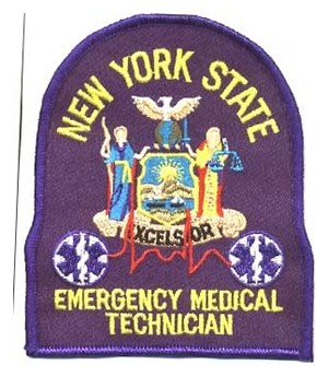 New York Emergency Medical Technician Patch