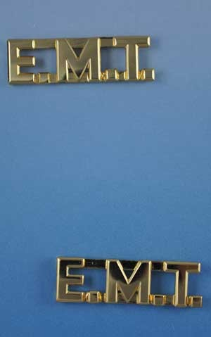"E.M.T. Letters Pin Sold in Pairs 3/8"" Inch"