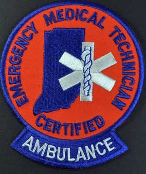 Indiana EMT Ambulance Patch