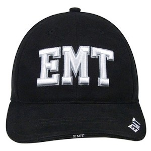 Deluxe Black Low Profile ''E.M.T.'' Ball Cap