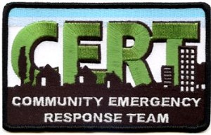 Embroidered Patch - Small Detailed CERT Patch 2 x 3 -1/2