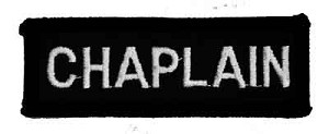 Chaplain Bar 1 x 3 Black