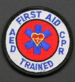 First Aid, CPR, AED Trained Mini Patch