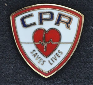 CPR Saves Lives Pin