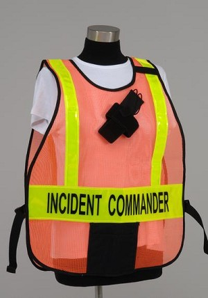Model #PON5 Poncho Style Incident Command System Vest with reflective striping