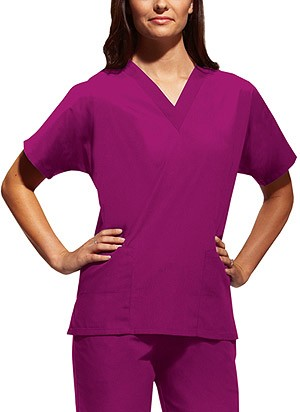 Woman's Poplin Scrub Top Solid