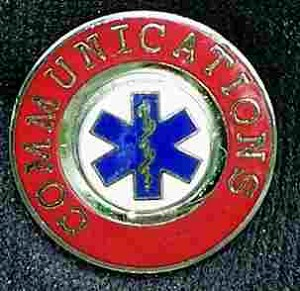 EMS Communications Insignia Pin