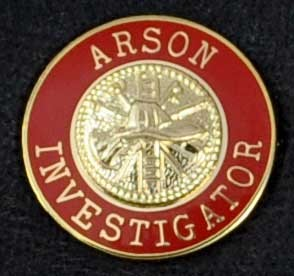 Arson Investigator Uniform Pin