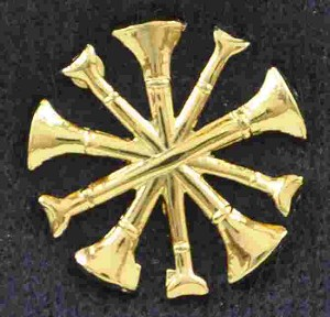 Fire Chief Bugle Pins Sold in pairs