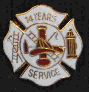 14 years Fire Service pin