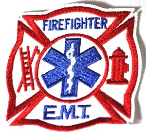 Firefighter EMT Embroidered Patch