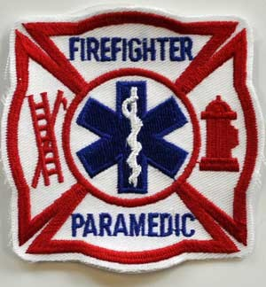 Firefighter PARAMEDIC Embroidered Patch