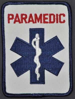 PARAMEDIC Rectangle Patch Embroidered Patch