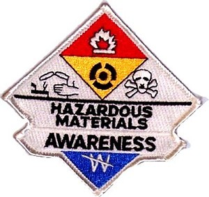 Hazmat Awareness Embroidered Patch