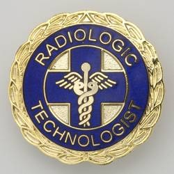 Radiologic Technologist Emblem Pin - Blue and Gold